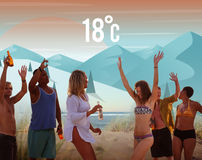 Wetter-Jahreszeit-Wettervorhersage-Anwendungs-Konzept stock abbildung