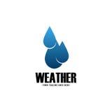 Wetter Logo Vector Stockfoto