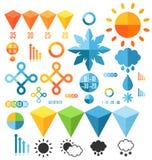 wetter Satz infographics Elemente Lizenzfreies Stockbild