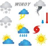 Wetter-Symbole Lizenzfreies Stockfoto