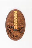 Wetter-Thermometer lokalisiert auf weißem Hintergrund lizenzfreies stockfoto