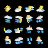 Wetter- und Naturikonen stock abbildung