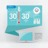 Wetter Widgetsschablone Stockfoto