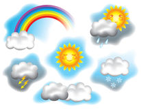 Wetterabbildung Lizenzfreie Stockfotos