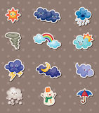 Wetteraufkleber Stockfotos
