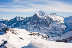 Wetterhorn above Grindelwald Stock Photos