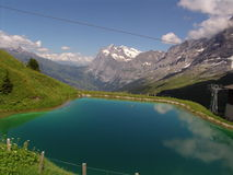 The Wetterhorn and Alpine Pond Royalty Free Stock Images