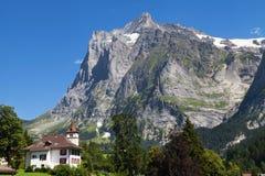 Wetterhorn da Grindelwald Immagini Stock Libere da Diritti