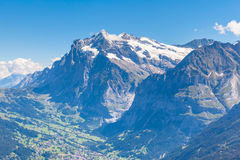 Wetterhorn and Grindelwald Stock Image