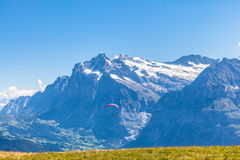 Wetterhorn and Grindelwald Stock Photo