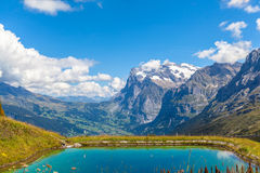 Wetterhorn and pond Royalty Free Stock Photo