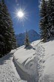 Wetterhorn in winter Stock Image