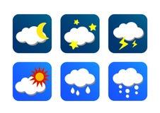 Wetterikone mit blauem Hintergrund stock abbildung