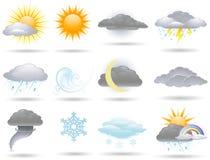 Wetterikonen stock abbildung