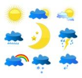 Wetterikonen lizenzfreie abbildung