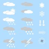 Wetterikonen. Lizenzfreie Stockbilder