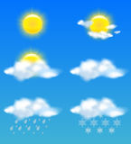 Wetterikonen stellten für Druck und Web-Gebrauch ein Stockfoto