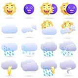 Wetterikonenset Lizenzfreies Stockfoto