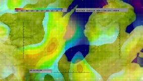 Wetterradar-Digital-Satellitenkarte (Mittelwesten) stock abbildung