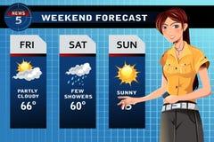 Wetterreporter Stockbild
