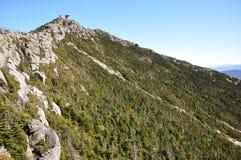 Wetterstation oben auf Whiteface Berg Stockbild