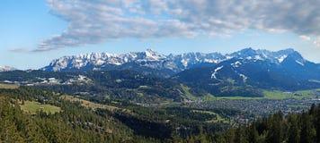 Wetterstein góry masa z zugspitze Fotografia Royalty Free