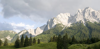 Wetterstein massif Mountains Stock Images