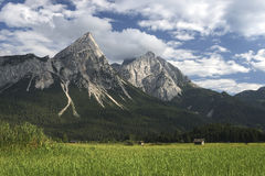 Wetterstein mountains in austria Royalty Free Stock Photo