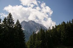 Wetterstein Mountains, Bavaria, Germany stock photography