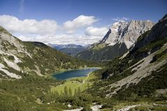 Wetterstein and valley of Seebensee Royalty Free Stock Images
