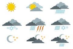 Wettersymbole 1 vektor abbildung