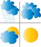 Wettersymbole Lizenzfreie Stockfotos