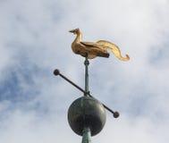 Wettervorflügel auf Kontrollturm der Ludlow Gemeindekirche Stockfotos