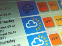 Wettervorhersage Stockfotos