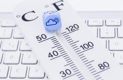 Wettervorhersage bewölkt Lizenzfreies Stockfoto