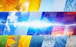 Wettervorhersage-Konzepthintergrund Stockfotografie