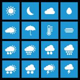 Wettervorhersageikonen für Ihre Auslegung Lizenzfreies Stockfoto