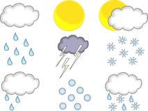 Wettervorhersageset Lizenzfreie Stockfotos