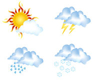 Wetterzeichen lizenzfreie stockbilder