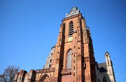 Wetzlar Cathedral Dom in Wetzlar, Germany. The Cathedral in Wetzlar is located in the city`s old town or `altstadt.` The construction for the cathedral began in Stock Images