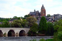 Wetzlar City. The old city part of Wetzlar with the historic Lahn bridge and the cathedral. Wetzlar is near Frankfurt, Germany Royalty Free Stock Photos