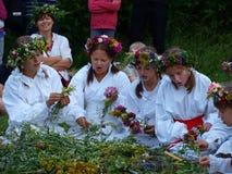Wevende kronen, Lublin, Polen Stock Foto's
