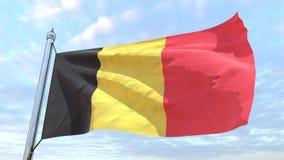 Wevende vlag van het land België vector illustratie