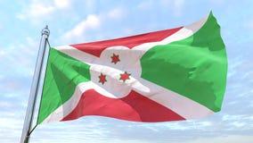 Wevende vlag van het land Burundi vector illustratie