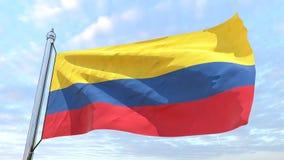 Wevende vlag van het land Colombia royalty-vrije illustratie