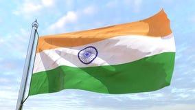 Wevende vlag van het land India royalty-vrije illustratie