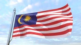 Wevende vlag van het land Maleisië royalty-vrije stock foto