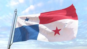 Wevende vlag van het land Panama royalty-vrije stock foto