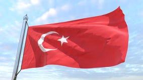 Wevende vlag van het land Turkije vector illustratie