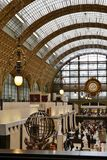 Wewnętrzna architektura Orsay muzeum w Paryż, Francja obrazy royalty free
